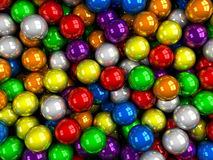 Balls color glossy Stock Photography