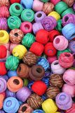 Balls of cotton. Fabric accessories for retail haberdashery,balls of cotton Stock Photography