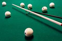 Balls and the cue Stock Image