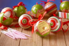 Balls decorated Christmas Royalty Free Stock Photo