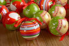 Balls decorated Christmas Stock Photography