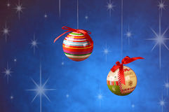 Balls decorated Christmas Stock Images