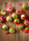 Balls decorated Christmas Royalty Free Stock Image