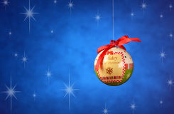 Balls decorated Christmas Royalty Free Stock Images