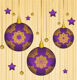 Balls decoration Happy New Year bauble. Royalty Free Stock Photos