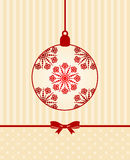 Balls decoration Happy New Year bauble. Royalty Free Stock Image
