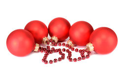 Balls decoration for New Year and Christmas Stock Image