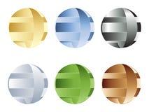 Balls different colors Stock Photos