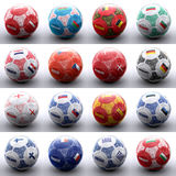 Balls with european flags of nations Royalty Free Stock Images