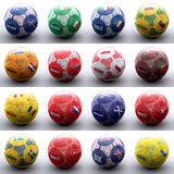 Balls with european flags of nations Royalty Free Stock Image