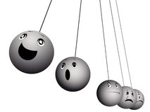 Balls expressing emotions Stock Photos