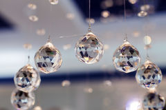 Balls faceted glass. Royalty Free Stock Photos
