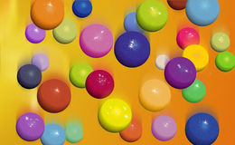 Balls falling. Colorfull balls falling down stock illustration