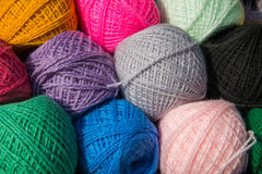 Balls of fine wool yarn. Royalty Free Stock Images