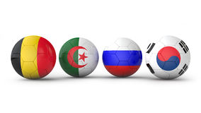 Balls with flags Royalty Free Stock Photo