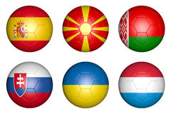 Balls with flags Stock Photos