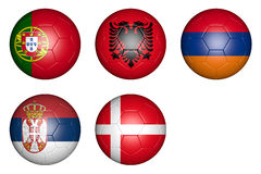 Balls with flags Stock Images