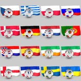 Balls flags, Euro 2012 teams participating. 3d balls flags, Euro 2012 teams participating Royalty Free Stock Photography