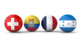 Balls with flags Stock Photo