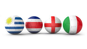 Balls with flags Royalty Free Stock Images