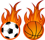 Balls in flame Royalty Free Stock Photo