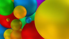 Shiny looking balls. 3d rendering. Balls flying free in the air. 3d rendering Royalty Free Stock Photo