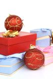 Balls and gifts Royalty Free Stock Photos