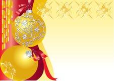 Balls_gold Immagini Stock Libere da Diritti