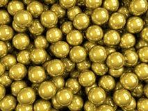 Balls gold glossy Stock Image