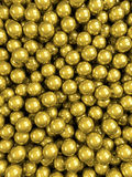 Balls gold glossy vertical Stock Image
