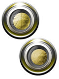 Balls Golden iconset. Classy gold icons with soccer and basket balls Royalty Free Stock Photography
