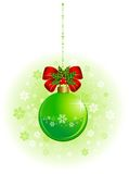 Balls on a green background. Christmas balls on a green background Royalty Free Stock Images