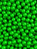 Balls green glossy vertical. 3d render glossy abstract balls background Vector Illustration