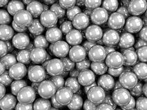 Balls grey glossy. 3d render glossy abstract balls background Royalty Free Stock Images