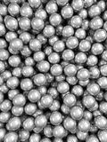 Balls grey glossy vertical. 3d render glossy abstract balls background Stock Photos