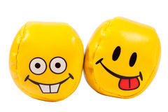 Balls with grimaces Royalty Free Stock Images