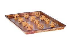 Balls of home-made cookie dough isolated Stock Photography