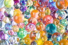Balls of hydrogel of different colors Royalty Free Stock Photos