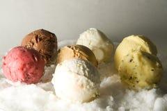 Balls of icecream Stock Image