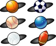 Balls icon. Vector illustration for a variety of balls icon Stock Photography