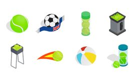 Balls Icon Set, Isometric Style Stock Photo