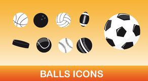 Balls icons Royalty Free Stock Photo