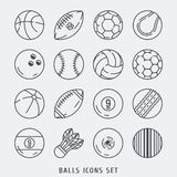 Balls icons set vector illustration Royalty Free Stock Photos