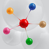 Balls infographic royalty free illustration
