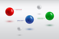 Balls infographic Royalty Free Stock Photos
