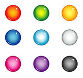 Balls Interface buttons Royalty Free Stock Photos