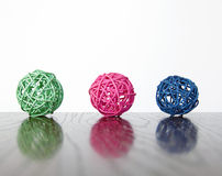 Balls interior decoration. Bamboo balls interior decoration closeup royalty free stock image