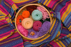 Balls for knitting Royalty Free Stock Photography