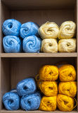 Balls of knitting wool background Stock Photography