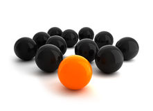 Balls - Leadership illustration Stock Photography